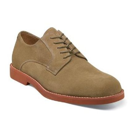 Florsheim Kearny Mens Taupe Suede Oxford Shoes 12054-260 Size 9.5