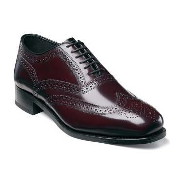 Florsheim Mens Burgundy Wingtip Shoes Lexington Size 8.5 Final Sale
