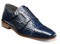 Stacy Adams Shoes Blue 2 Buckle Golato 25117-400 OS
