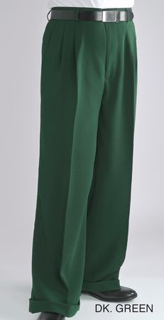 Fratello Mens Green Wide Legged Pants Slacks DP-106