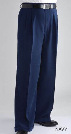Fratello Slacks Mens Wide Leg Dress Pants Navy Baggy Trousers DP-106