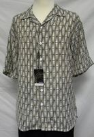 Gachu Mens Cream Brown Pattern Shirt 1647