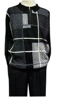 Stacy Adams Mens Black Sweater and Pants Outfit 8225