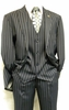 Gangster Suit Mens Blue White Stripe Stacy Adams Mars 4017-002