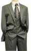 Gangster Suit Mens Gray White Stripe Stacy Adams Mars 4017-021