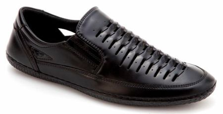 Mens Summer Casual Shoes by Montique Black S18