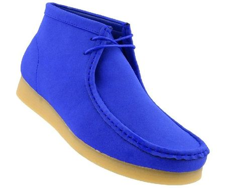 British Style Chukka Boot Men's Moccasin Toe Royal Blue Jason2