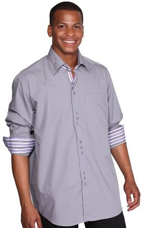 George Gray 3 Button Collar Mens Fashion Dress Shirts AH608 - click to enlarge