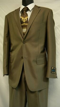 Gianni Uomo Mens Taupe 2 Button Modern Fit 3819 IS