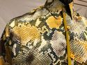 Men's Gold Snake Print Short Sleeve Casual Shirt Pronti S6483