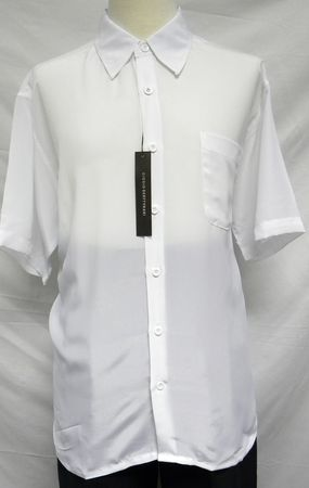 Giogio Mens Solid White Short Sleeve Casual Shirt 439