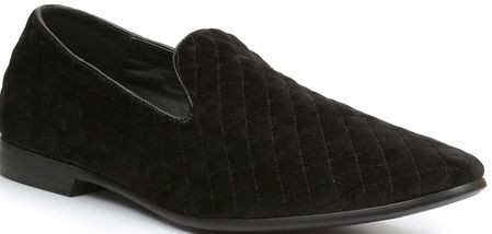 Giorgio Brutini Black Quilted Fashion Smoking Slippers 176271 - click to enlarge