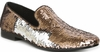 Giorgio Brutini Gold Sequin Unique Smoking Slippers 179304