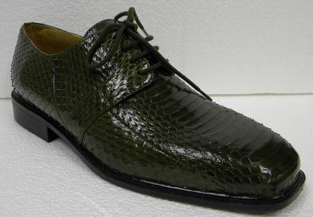 Giorgio Brutini Men's Olive Snakeskin Shoes 155225-1 IS - click to enlarge