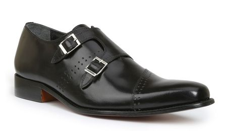 Giorgio Brutini Mens Black Double Buckle Dress Shoes 200131 IS - click to enlarge
