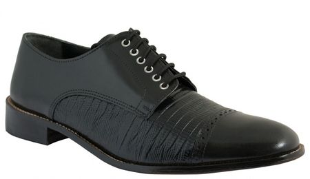 Giorgio Brutini Mens Black Biscuit Toe Dress Shoes 210471 IS - click to enlarge