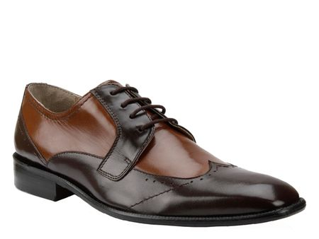 Giorgio Brutini Brown Tan Two Tone Wingtip Shoes 249042-4 IS - click to enlarge