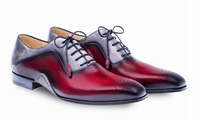 Mezlan Mens Burgundy Two Tone Lace Up Ferrara 8450
