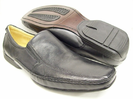 Giorgio Brutini Mens Black Leather Casual Loafers 172051 - click to enlarge