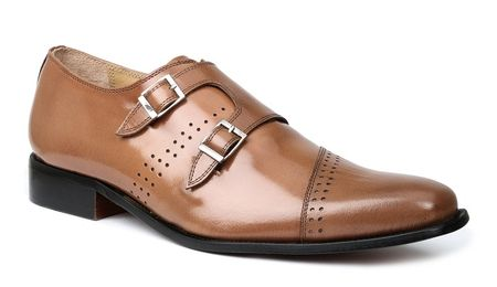 Giorgio Brutini Mens Tan Double Buckle Dress Shoes 200134 IS  - click to enlarge