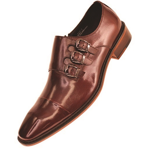 3 Buckle Leather Dress Shoes SL308 Size