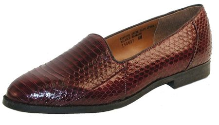 Giorgio Brutini Mens Burgundy Snakeskin Loafers  150637  - click to enlarge