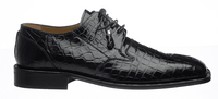 Alligator Shoes Ferrini Mens Black Square Toe 208/528