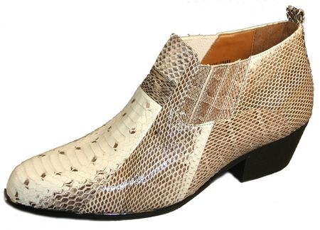 Giorgio Brutini Mens Natural Snakeskin Cuban Heel Boots 150649-1 Size 8.5 Only - click to enlarge