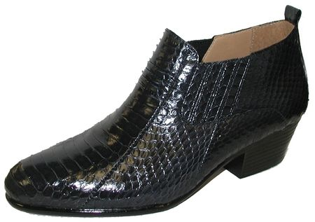 Giorgio Brutini Mens Navy Snakeskin Cuban Heel Boots 150643 - click to enlarge