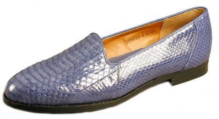 Giorgio Brutini Mens Royal Blue Snakeskin Loafers  150633-2  SIZE 12.0 ONLY - click to enlarge
