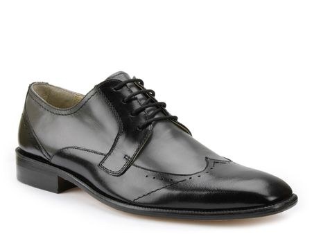 Giorgio Brutini Black Grey Two Tone Wingtip Shoes 249041-8 IS - click to enlarge