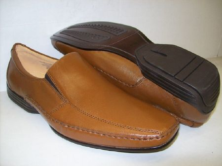 Giorgio Brutini Mens Tan Leather Casual Loafers  172054 size 8.5  - click to enlarge