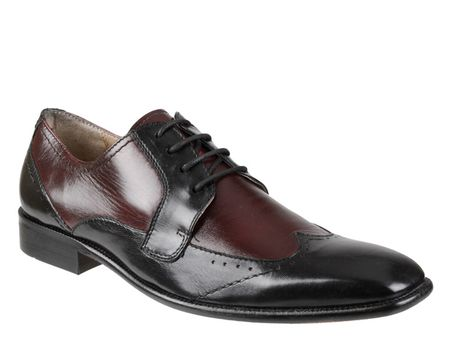 Giorgio Brutini Black Burgundy Two Tone Wingtip Shoes 249041-7 IS - click to enlarge