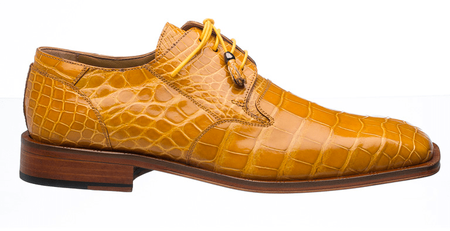 Alligator Shoes Ferrini Mens Gold Square Toe Style 208/528