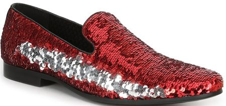 Giorgio Brutini Sequin Red Fashion Smoking Loafers 179300 - click to enlarge