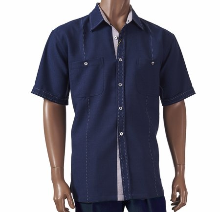 Giorgio Inserti by Inserch Mens Blue Stitch Walking Suit 741 - click to enlarge