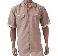 Giorgio Inserti by Inserch Mens Brown Heather Walking Set 742