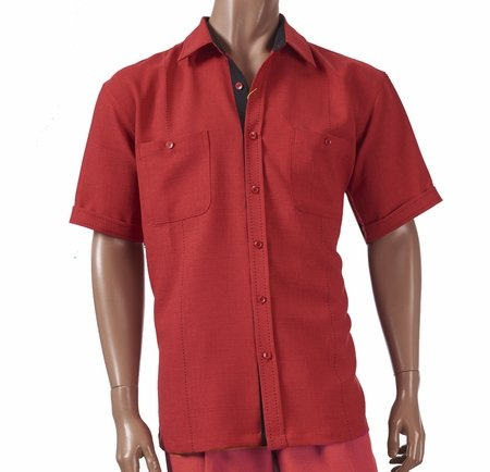 Giorgio Inserti by Inserch Mens Red Stitch Walking Suit 741 - click to enlarge