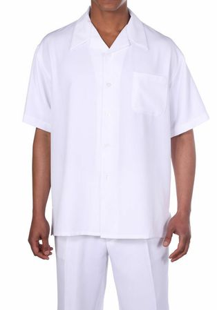 Fortino Cream Short Sleeve Walking Suit M2954 Size 3X/44 Final Sale