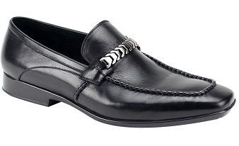 Giovanni Mens Black Bracelet Link Designer Loafer Cruz