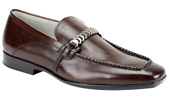 Giovanni Chestnut Brown Designer Bracelet Top Loafer Cruz