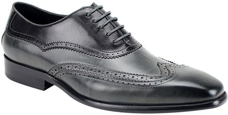 Giovanni Mens Black/Grey Wingtip Designer Dress Shoe Cyprus - click to enlarge
