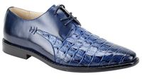 Giovanni Mens Crocodile Print Blue Lace Up Church Shoes 2525