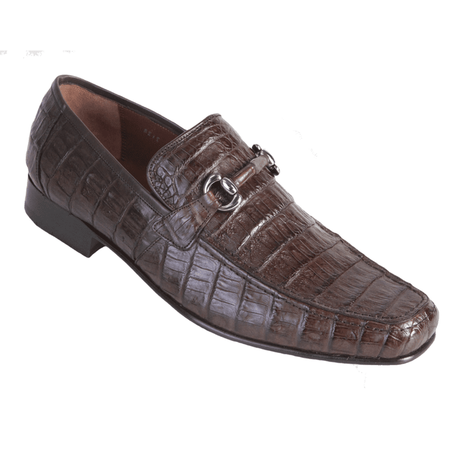 Mens Brown All Over Crocodile Loafers Los Altos ZV108207 Size 8.5 Final Sale