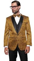 Gold Paisley Sequin Stage Performer Suit Paisley-200 3pc
