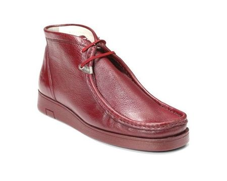Hamara Joe Chukka Boots Moccasin Toe Mens Burgundy Leather HJ101