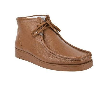 Hamara Joe Chukka Boots Moccasin Toe Mens Caramel Leather HJ101