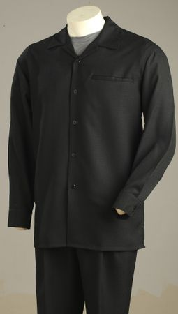 Tony Blake Black Texture Solid Color Mens Walking Suits 221 - click to enlarge