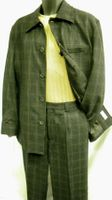 Leisure Suits by Inserch Black Wool Plaid 1631