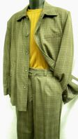 Leisure Suits by Inserch Brown Wool Plaid 1638